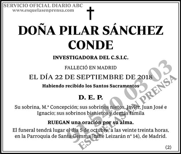 Pilar Sánchez Conde